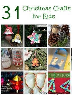 31 fun, simple Christmas crafts to do with your kids!