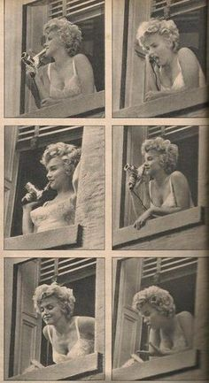 Marilyn on the set of The Seven Year Itch, 1954.