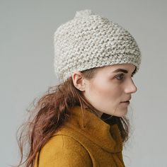 Textured Marbled Beret Pattern – Knit Purl
