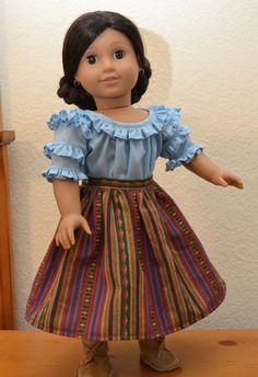 Ag Dolls, Girl Dolls, Custom Clothes, Diy Clothes, American Girl Dress, Doll Wardrobe, Girls Dresses, Summer Dresses, Blouse And Skirt