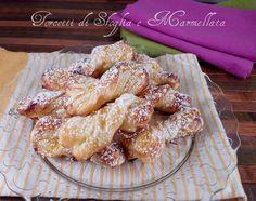 Torcetti di sfoglia con marmellata ricetta facile e veloce