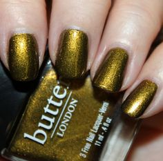 """butter LONDON """"Wallis"""" - on my nails 12/12/11."""