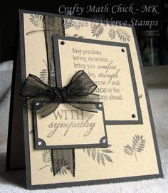 VSWCMD3 Sympathy by Crafty Math Chick - Cards and Paper Crafts at Splitcoaststampers