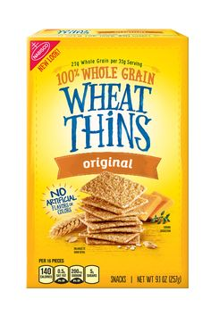 Wheat Thins flavors that are VEGAN: Fiber Selects, Garden Vegetable, Flatbread Tuscan Herb, Hint of Salt, Multi-Grain, Original, Reduced Fat, Spicy Buffalo, Sundried Tomato & Basil, and Zesty Salsa