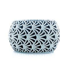 Tiffany art deco archival diamond onyx bracelet.