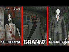 GRANNY VS SLENDRINA VS SLENDER MAN Maya Mia, Monster School, Slender Man, Horror House, Top Videos, Creepypasta, Fnaf, Youtubers, Videogames