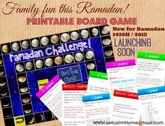 a muslim homeschool: Ramadan Challenge: Printable board game!