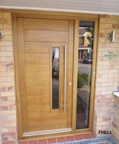 Contemporary oak door with sidelights interior barn for Casa moderna storm oak