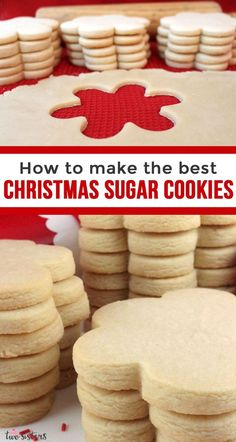 The Best Sugar Cookies Recipe We have found The Best Sugar Cookie Recipe ever and we couldn't wait to share it so that everyone can have super yummy homemade sugar cookies. Homemade Sugar Cookies, Sugar Cookie Frosting, Best Sugar Cookies, Sugar Cookies Recipe, Holiday Cookies, Cookie Recipes, Frosted Sugar Cookies, Taste Of Home Sugar Cookie Recipe, Frosted Christmas Cookies