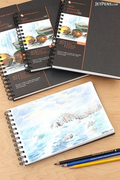 Global Art Hand Book Field Drawing Journals come in unique and portable sizes for creating sketches on the go.