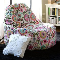 fun lounge chair if we end up with the space.  Bella Floral Leanback Lounger | PBteen