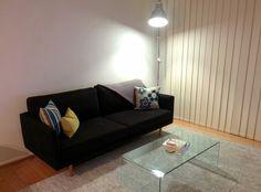 warwick liam licorice fabric on customised melba 3 seater sofa