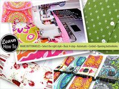 Sew4Home MINI TIP Buttonholes! | Janome Life