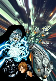 Star Wars Return of the Jedi Manga art by Adam Warren Star Wars Manga, Star Wars Sith, Star Wars Images, The Phantom Menace, Star Wars Poster, Manga Pictures, Cover Art, Science Fiction, Concept Art