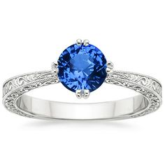 Sapphire engagement ring Brilliant Earth