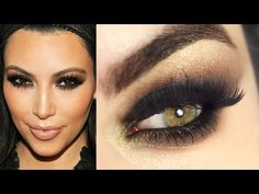 Makeup Tutorial Kim Kardashian Cat Eyes - YouTube