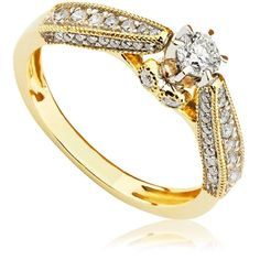 Ring yellow gold with diamond - Fuego 1 Carat Diamond Ring, Rose Gold Diamond Ring, White Gold Diamonds, Black Diamond, Antique Style Engagement Rings, Diamond Engagement Rings, Yellow Gold Rings, Black Rings, Rings Online