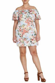 Plus Size Mystical Muse-Blue Dress from Elohai Plus Size Boutique