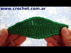Hoja N° 3 en tejido crochet tutorial paso a paso. - YouTube