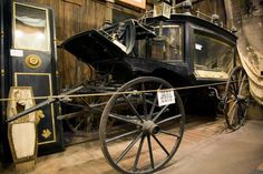 The black Moriah carriage which carried the dead to Boot Hill, Tombstone