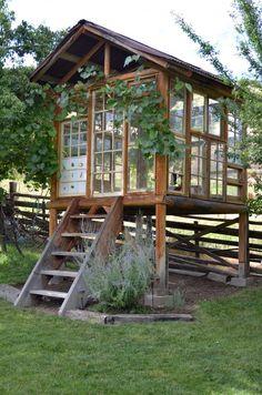 "La Maison Boheme: Spirit House Made With Recycled Windows, ""greenhouse"""