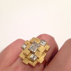 Diamond and Yellow Gold ring by Grima, 1972 I worked for Andrew for 3 year from 1977 to 1980 in his Jermyn Street Shop in London Malcolm Morris