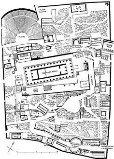 Grèce - Plan du sanctuaire de Delphes