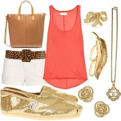 loving gold jewelry right now...and mixing it with pinks...and there is a BOW!!!!
