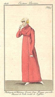 Coral pelisse, 1808 costume parisien