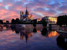 Sunrise, Notre Dame, France.