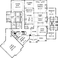 Plans Maison En Photos 2018 Image Description like bathroom when you come in backdoor, his and hers closets First Floor Plan of Craftsman House Plan 58253 House Plans And More, Best House Plans, Dream House Plans, House Floor Plans, The Plan, How To Plan, Building Plans, Building A House, Building Ideas