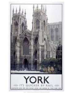 York // York Minster Vintage Rail Poster