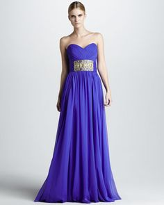 Strapless Bead-Waist Gown by Notte by Marchesa at Bergdorf Goodman.
