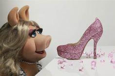 DIY: Miss Piggy's $595 pink glitter heels - Style - TODAY.com