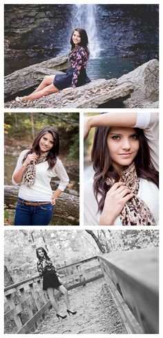 Savannah Ward Photography - Hayden Falls - Columbus, Ohio Photographer  Senior session outdoors columbus ohio photographer senior portrait photographer posing bridge waterfall fall sessions