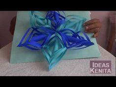 Copo de nieve en 3D de papel reciclado paso a paso(1 de 2)