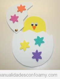 Peek-A-Boo Chick This cute Easter craft a kid favorite. Cut out your craft foam pieces using our provided template and assemble them so that your baby chick can hatch out of his beautifully decorated egg. Our daughter played with the peek-a-boo chick cra Easter Craft Activities, Daycare Crafts, Foam Crafts, Easter Crafts For Kids, Toddler Crafts, Preschool Crafts, Craft Foam, Easter Crafts For Preschoolers, Art Activities