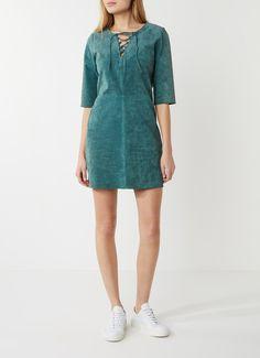 Another-Label Bowery jurk met nubuck met veterdetail • de Bijenkorf