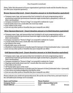 Sponsorship Request Letter Sample  HttpResumesdesignCom