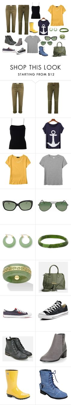 """""""Me and E"""" by zahra00762 on Polyvore featuring Current/Elliott, T By Alexander Wang, Banana Republic, Monki, Ray-Ban, Palm Beach Jewelry, Dinosaur Designs, Avenue, Superdry and Converse"""