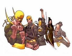 Haven't done a versus poll in a while, so I thought it would be cool to have the various generations of the Iron Fist pitted against Batman and his various pupils. Marvel Logo, Marvel Comics Art, Manga Comics, Marvel Avengers, Comic Books Art, Comic Art, Luke Cage Marvel, Iron Fist Marvel, Marvel Series