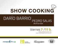 Show cooking con Darío Barrio viernes 7 de septiembre en la Escuela de Hostelería de Castellón a las 11 horas. Os esperamos!!!  No es necesaria confirmación de asistencia. Entrada libre. Attendance, September, Friday, Entryway, School