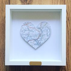 Framed personalised heart map gift 1st wedding anniversary framed personalised heart map gift 1st wedding anniversary engagement house warming wedding gift discover more ideas about heart map gumiabroncs Images