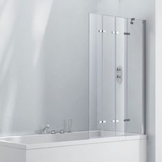 Genial Frontline Aquaglass+ Frameless 4 Fold Bath Screen