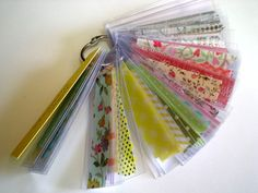 "Washi Swatches by sherry.eckblad  she cut transparencies to 1""x3"" at Studio Calico"
