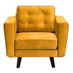 Fauteuil Bristol - stof - geel