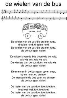 De wielen van de bus....: peuter en kleuterliedje