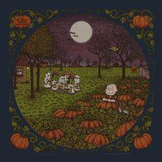 It's The Great Pumpkin, Charlie Brown by Marq Spusta Halloween Inspo, Retro Halloween, Halloween Pictures, Holidays Halloween, Spooky Halloween, Happy Halloween, Halloween Decorations, Halloween Movies, Charlie Brown Halloween