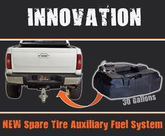 Titan Fuel Tank Innovation Spare Tire Auxiliary Fuel Tank #toxicdiesel #titanfueltank #dieseltank www.toxicdiesel.com