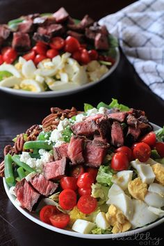"The Ultimate Ribeye Steak Salad made ""steakhouse style."" Filled with green beans, hardboiled eggs, goat cheese and drizzled with a Balsamic Vinaigrette. This classic steak salad makes the perfect dinner and is done in 30 minutes Beef Recipes, Salad Recipes, Cooking Recipes, Juice Recipes, Chicken Recipes, Recipies, Salad With Balsamic Dressing, Steak Salad Dressing, Vinaigrette Dressing"